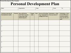 Perfect Leadership Development Plan Template Inside Personal Development Plan Template Word