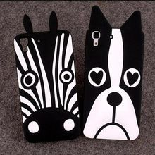 Lovely Cartoon Dog Zebra Silicone Soft Back Cover For Huawei Y6 Honor 4A Phone Case For Huawei Honor 4A Mobile Phone Capa Coque(China (Mainland))