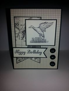 Stampin Up Stamp Set: The Wilderness Awaits. Cardstock: Basic Black & very Vanilla. DSP: Typeset. Ink Pads: Basic Black