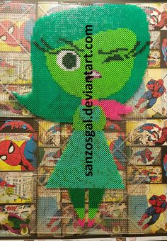 Disgust -  Pixar Inside Out perler beads