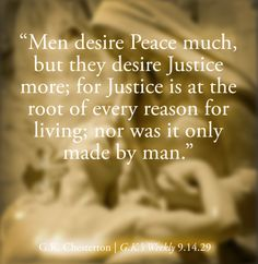 Justice is made by God.