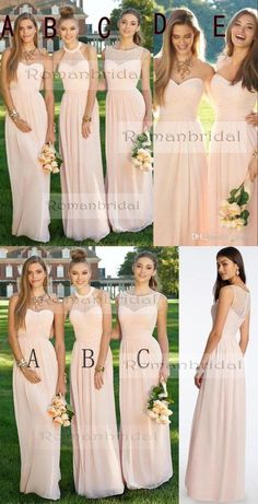 5d9094efb6ba7 2018 Newest Fashion Pink chiffon Simple Pleats Cheap Formal Prom Party Dress,  Long Bridesmaid Dresses, BD0407