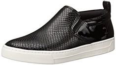 Marc by Marc Jacobs Women's Broome Printed Glazed Snake Skate Fashion Sneaker, Black, 39 EU/9 M US -- Continue to the product at the image link.