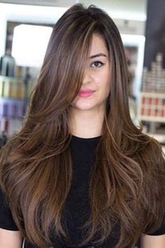 Long Straight Layered Hair, Haircuts For Long Hair With Layers, Haircuts Straight Hair, Long Face Hairstyles, Long Layered Haircuts, Latest Hairstyles, Thick Hair, Ponytail Hairstyles, Layered Hairstyles