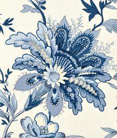 Indigo Quilt Fabric | Waverly Felicite Indigo Fabric | onlinefabricstore.net