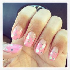 Pink with silver dot