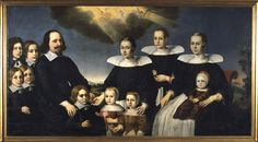 Trond Clausen med familie, ukjent, ca. 1640 Renaissance Art, 17th Century, Museum, Artist, Movie Posters, Painting, Unicorn, Portraits, Artists