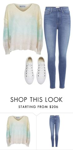 """""""Untitled #1132"""" by itsberlin ❤ liked on Polyvore featuring Wildfox, Paige Denim and Converse"""