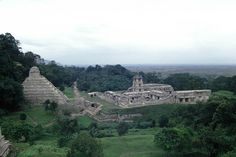 The Temple of the Inscriptions at the Maya site of Palenque in Mexico is the burial site of Pacal Votan.