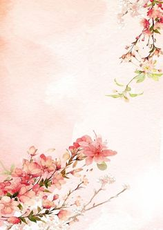 By Artist Unknown. Flower Backgrounds, Wallpaper Backgrounds, Watercolor Flowers, Watercolor Art, Imagen Natural, Chinese Background, China Art, Chinese Painting, Japanese Art