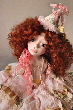 OOAK art doll / Купить Вивьен - бледно-розовый, рыжий, кукла ручной работы, кукла, кукла в подарок