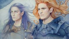 Fingon amd Maedros just kinda remind me of Faeryn and Lyss xD I don't know them well but just in looks.