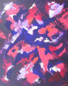 """Fire Fantasy"", Acrylic on canvas, 2001 Dimensions: 100 x 80cm"
