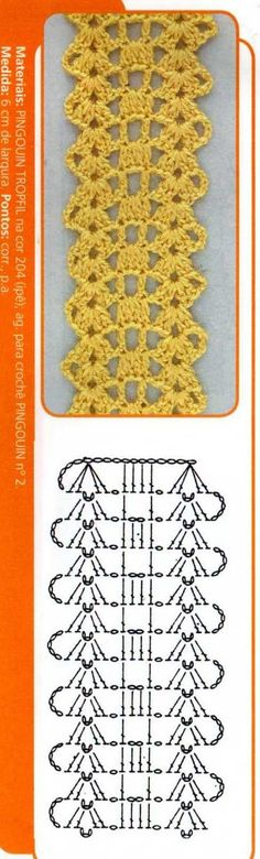 41 best Ideas for crochet scarf diagram charts cross stitch Crochet Scarf Diagram, Crochet Lace Edging, Crochet Motifs, Crochet Borders, Crochet Cross, Crochet Stitches Patterns, Crochet Chart, Thread Crochet, Crochet Scarves