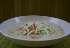 Hideg kovászosuborka-leves (Kovászosuborka leves 3.) Eat Seasonal, Cheeseburger Chowder, Grains, Tacos, Rice, Meat, Chicken, Cream Soups, Ethnic Recipes