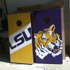 LSU Corn Hole Boards
