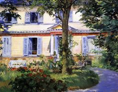 The House at Rueil -  Manet 1882                                                                                                                                                                                 Plus