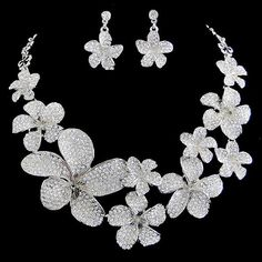 Vintage Swarovski Crystal Bridal Orchid Flower by Annamall on Etsy, $45.99