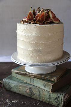 Divino Macaron: Torta de Higos y Miel con Crema de Miel