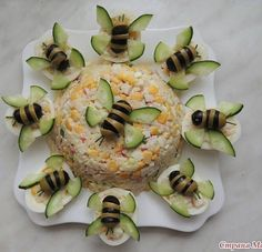 Food decoration - - food art - - Kochen - Home Cute Food, Good Food, Yummy Food, Food Carving, Food Garnishes, Garnishing, Cooking Recipes, Healthy Recipes, Snacks Für Party