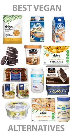 Best alternatives for a plant based diet.