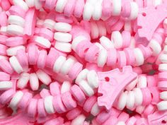 Adorn all the guests at your princess party with pink and white candy bracelets sure to charm and delight! Her royal highness, the Princess of Everything, forma Candy Bracelet, Candy Necklaces, Bracelets, Bulk Candy, Candy Shop, Pink Princess, Princess Party, Princess Birthday, Swirl Lollipops