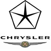 This is the Chrysler logo is a pentagram inside a pentagon (both of which are Occult symbols). The logo on the bottom is also a replica ...