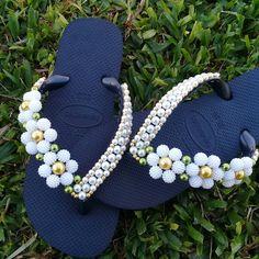 Crochet Girls Dress Pattern, Crochet Bedspread Pattern, Diy Perler Beads, Flip Flops, Girls Dresses, Shoes, Women, Decorated Flip Flops, Felt House