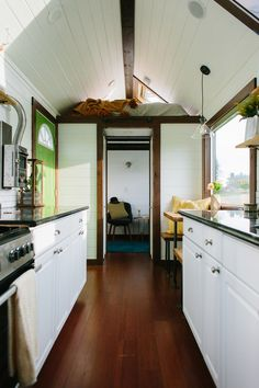 A luxury tiny house on wheels in Portland, Oregon. Built by Tiny Heirloom.
