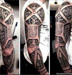 Gears Arm Sleeve Tattoo