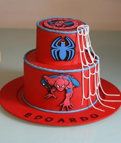 Spiderman Cake Ideas for Little Super Heroes - Novelty Birthday Cakes Spiderman Birthday Cake, Spiderman Theme, Superhero Cake, Birthday Cupcakes, Novelty Birthday Cakes, Novelty Cakes, Fondant Cakes, Cupcake Cakes, Cupcakes For Men