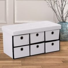 Faltbare Aufbewahrungssitzbank mit 6 Boxen Entryway Bench, Dresser, Storage, Furniture, Home Decor, Linens, Ad Home, Homes, Wish List