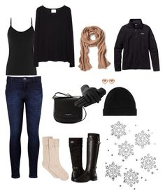 """""""Snow Big Deal"""" by shopgirl1995 on Polyvore featuring Levi's, Aerosoles, La Garçonne Moderne, Lancaster, Banana Republic, Marc by Marc Jacobs, UGG and Patagonia"""