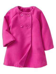 Cute classic coat for a little one. :)