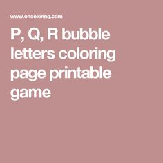 Letters D E F Bubble Alphabet Coloring Page Printable Game