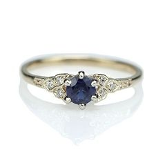 Replica Art Deco Sapphire Engagement ring - 3188-03