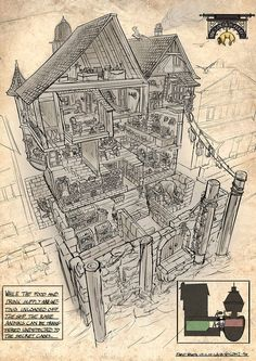 Feng Zhu Design: RPG Game Cutaways: