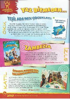 """Yeşil Adanın Çocukları, """"Da Vinci Learning"""" dergisinde"""