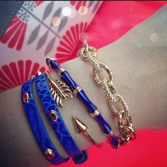 Neon, blue, and coral | Arm candy by Stella & Dot