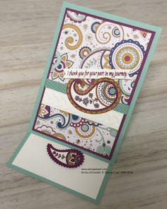 Paisleys & Posies Easel Card