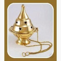 This medium sized censor allows you to burn cone, granular and powder incense without taking up space upon your altar or counters Measures x 3 Burning Incense, Incense Burner, Altar, Decorative Bells, Brass, Rice