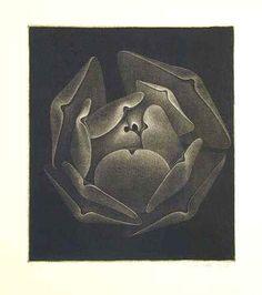 Petr Nikl  Květ / Bloom  mezzotinta, 24x21 cm