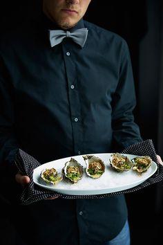 Gegratineerde oesters met champagnesaus