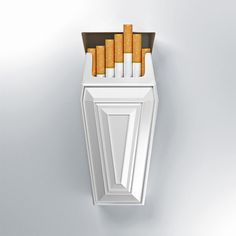 These coffin cigarette packages not only look great but are a superb way to try to make people quit smoking, with the coffin reminding them the smoking does cause cancer and often leads to death.