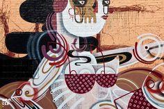 Fresh new Street Art Mural by Australian street artist REKA in Dalston, East London . Graffiti Photography, Art Photography, Urban Street Art, Street Art Graffiti, Industrial Wedding, Street Artists, Rue, Contemporary Artists, Yorkie