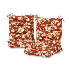Greendale Home Fashions Roma Floral High Back Patio Chair Cushion at Lowe's. Enhance the look and feel of your patio furniture with this Greendale Home Fashions Outdoor High Back Chair Cushion Set of These cushions measure x Patio Furniture Cushions, Outdoor Lounge Chair Cushions, Patio Chairs, Outdoor Chairs, Indoor Outdoor, High Back Dining Chairs, Back Patio, Modern Prints, Outdoor Fabric