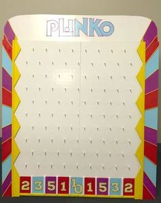 PLiNKO! | Beth\'s Creative Closet DIY PLiNKO board for primary ...