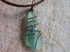 Eco Friendly Handmade Wire Wrapped Recycled by UniqueChiqueJewelry, $15.00