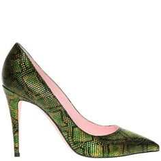 Ozsale - Giamba | Leather Pumps Patterened Green & Black