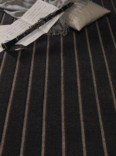 Jacaranda's Velvet Stripe Charcoal & Pewter Hand Woven Carpet